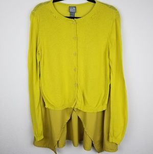 Lilith XL Lagenlook Faux Layered Cardigan Sweater